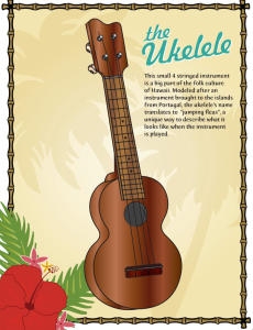 real ukelele color poster