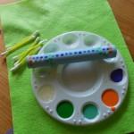 bilma making dots with q-tips