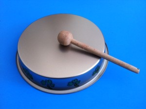 homemade bodhran (tin)