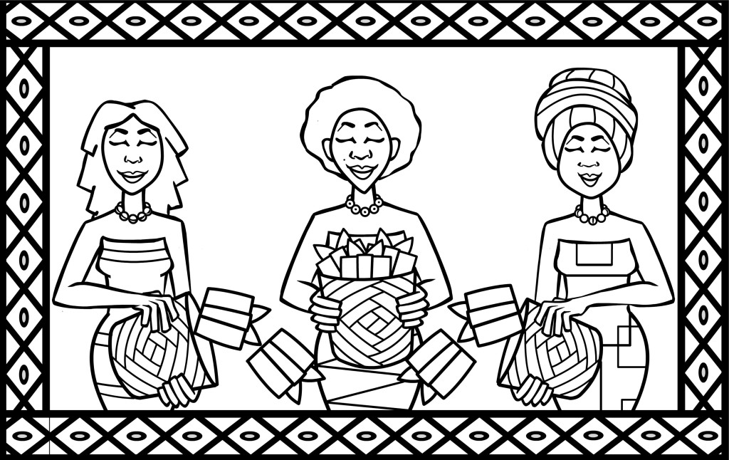 HERE COME OUR MOTHERS - coloring page