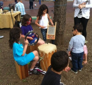 Rhythm Tree drumming around