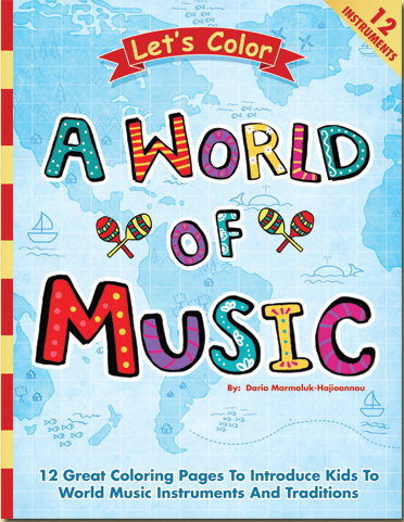 Color These World Music Instruments