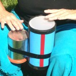 playing bongos