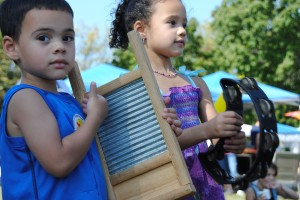 washboard and tambourine