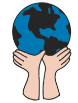 world in hands icon