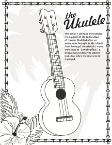 ukulele COMPLETE coloring page