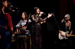 Sarah on stage