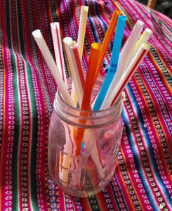 drying straws